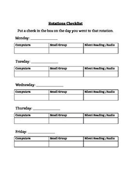 Read 180 Rotations Checklist