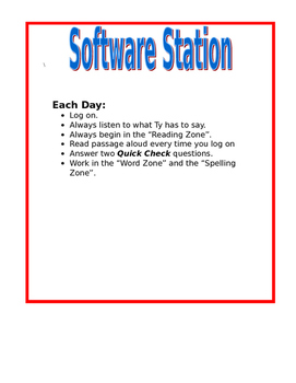 Read 180 Software Station Directions