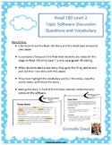 Read 180 Stage A - Topic Software 11 Graphic Organizer for Vocabulary