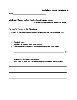 Read 180 Stage A Workshop 2 purposeful viewing worksheet