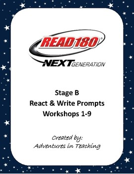 Read 180 - Stage B - React & Write Sheets - All Workshops