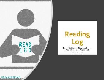 Read 180 Reading Log (Mon - Thurs assignment)