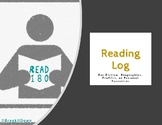 Read 180 Reading Log (Mon - Thurs assignment)