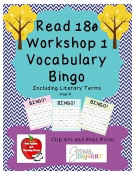 Read 180 Stage B Workshop 1 Bingo Cards!