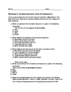 Read 180 Stage B Workshop 1 Skills Pre-Assessment