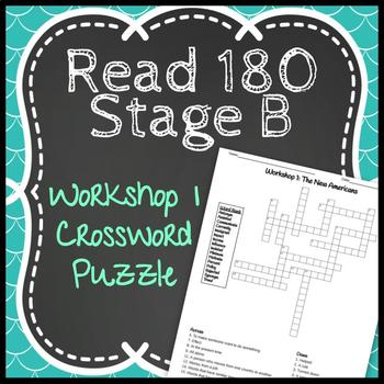 Read 180 Stage B Workshop 1: The New Americans Crossword Puzzle