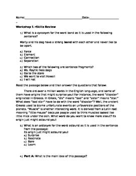 Read 180 Stage B Workshop 1 rSkills review
