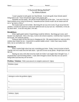 Read 180 Stage B Workshop 5 Assessment for Under Pressure