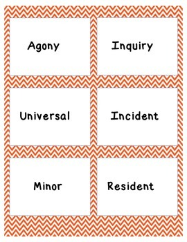 Read 180 Stage B Workshop 9 Vocabulary Flash Cards and Word Wall Cards