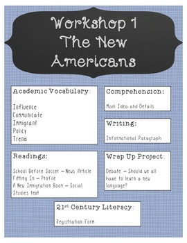 Read 180 Stage B Workshops 1-9 Anchor Charts