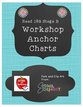 Read 180 Stage B Workshops 1-9 Anchor Charts- NEXT GENERATION
