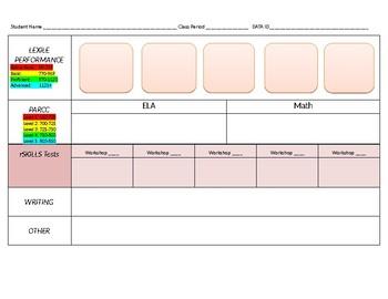 Read 180 Student Data Sheet