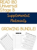 Read 180 Supplemental Materials GROWING BUNDLE Universal Stage B