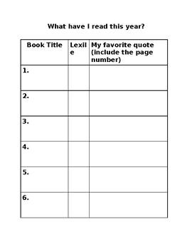 Read 180/System 44 Book Log
