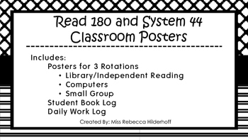 Read 180 System 44 Rotation Posters