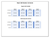Read 180 45 Minute Model Rotation Schedule (Timing)
