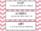 Read 180 Universal Stage B Vocabulary Bulletin Board- Workshop 4- Chevrons