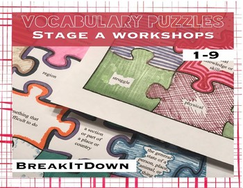 Read 180 Vocabulary Puzzles rbook stage A
