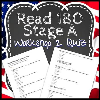 Read 180 Workshop 2 Stage A: Coming to America-Vocabulary Test