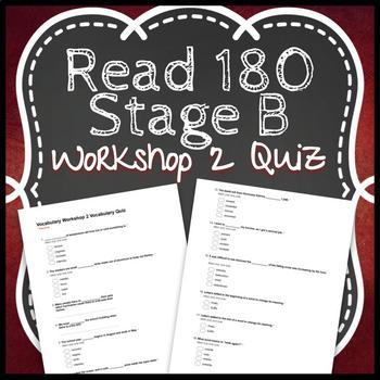 Read 180 Workshop 2 Stage B: When Disaster Strikes-Vocabulary Test