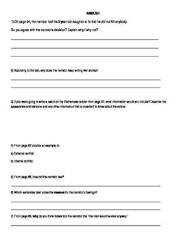 Read 180 Workshop 3 - Ambush - comprehension questions