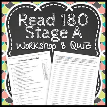 Read 180 Workshop 3 Stage A: Bud, Not Buddy-Vocabulary Test
