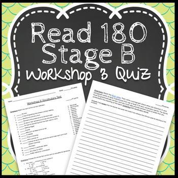 Read 180 Workshop 3 Stage B: Identity Crisis-Vocabulary Test