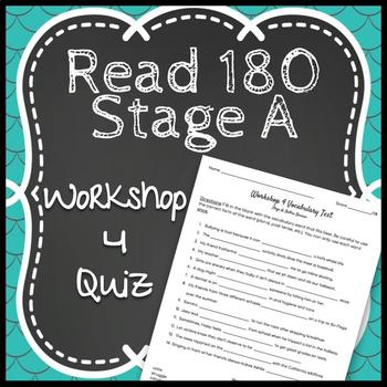 Read 180 Workshop 4 Stage A: Bullies Beware-Vocabulary Test