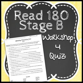 Read 180 Workshop 4 Stage B: Stolen Childhoods-Vocabulary Test