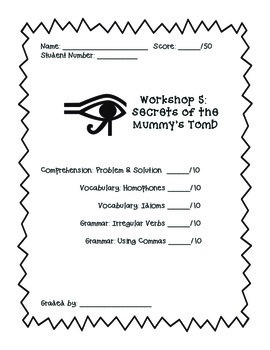 Read 180 Workshop 5 (Secrets of the Mummy's Tomb) Skills Mega Pack
