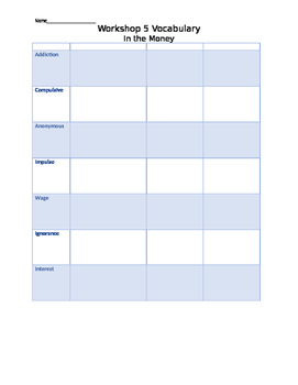 Read 180 Workshop 5 Stage C Vocabulary Worksheet