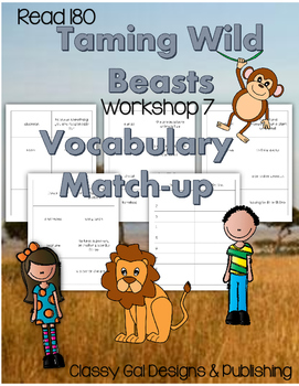 Read 180 Workshop #7 Vocabulary Match-up