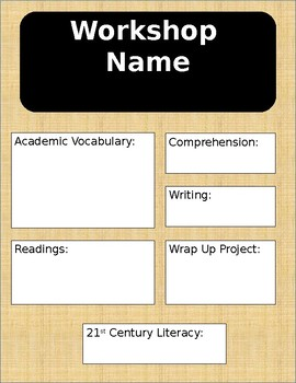 Read 180 Workshop Anchor Chart Template