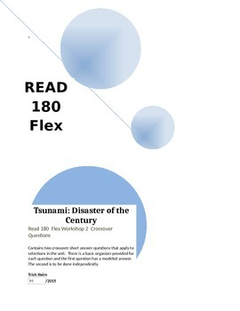 Read 180  rBook  Workshop 2 Tsunami:Disaster of the Centur