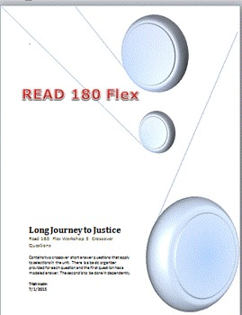 Read 180  rBook flex Workshop 3  Long Journey to Justice Crossover Questions