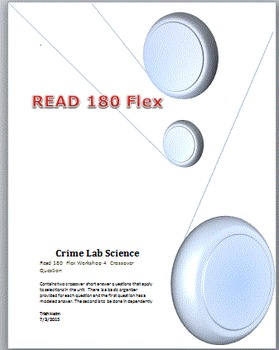 Read 180  rBook flex Workshop 4  Crime Lab Science Crossover Questions