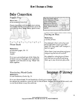 Read-2-Learn - How I Became a Pirate Thematic Unit