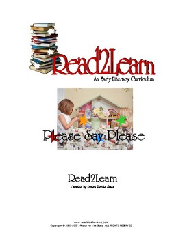 Read-2-Learn - Please Say Please Thematic Unit