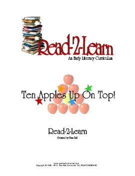 Read-2-Learn - Ten Apples Up On Top Thematic Unit