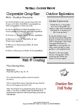 Read-2-Learn - The Hello, Goodbye Window Thematic Unit