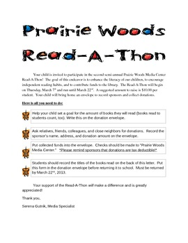 Read-A-Thon Informational Letter
