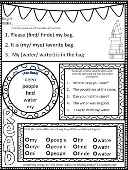 Reading Week: 4 Additional Morning Work FREEBIES for Primary Grades