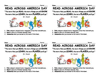 Read Across America Activity
