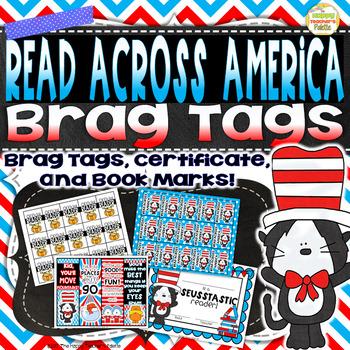 Read Across America ~ Brag Tags Certificate Bookmarks~