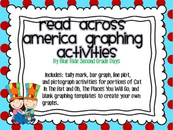 Read Across America Cat In Hat and Oh Places You Will Go Graphing Activities