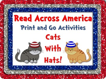 Cats & Hats Literacy and Math Fun Pack + BONUS Bookmarks! Read Across America
