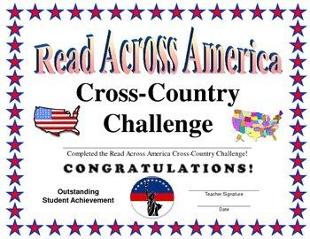 Read Across America Certificate
