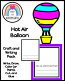 Hot Air Balloon Craft and Writing Activity for Literacy Centers