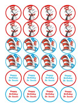 Read Across America Cupcake Toppers!