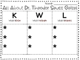 Read Across America Day Dr. Seuss KWL Activity